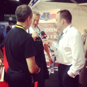 John chats to Nick Nairn at Offshore Europe 2013